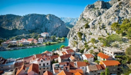 Canyoning on the river Cetina Omiš Croatia