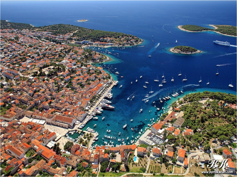 The island of Hvar  and Pakleni otoci, Boat tour, Croatia