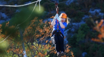 Zipline on Kozjak